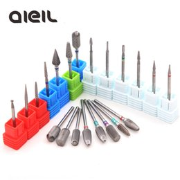 wholesale milling machines NZ - Carbide Rotary Burr Nail Drill Bits Milling Cutters For Manicure Machine Milling Cutters For Pedicure Cutter Nail Art Tool
