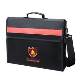 Support imperméable de sac de document ignifuge de tissu de fibre de verre non-irritant avec le sac de poignée de courroie d'épaule en Solde