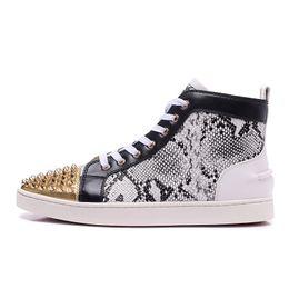 $enCountryForm.capitalKeyWord NZ - Men Designer Sneakers For Men Leopard Print Real Leather Mens Shoes High Top Tenis Luxury Shoes Fashion Brand Hip Hop