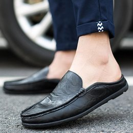 driving shoes NZ - Pop Men Casual Shoes Fashion Leather Shoes Men Loafers Design Driving Flats Footwear Male Adult Comfort Handmade
