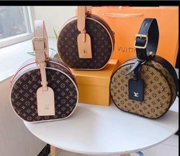 Hand bag cake online shopping - Women s new round cake bag Hand held sloping shoulder luxury fashion size for large capacity delivery cm