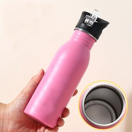 water bottles for boys NZ - Portable Travel Water Bottle Drinking Stainless Steel Outdoor Bottles With lid Animals Pattern Camping Cold Kettle For Boy Gift