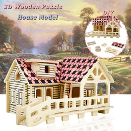 $enCountryForm.capitalKeyWord Australia - 3D Wooden House Puzzles Toys for Children to DIY Creative Assembled Building Model Kits Educational Hobbies Gifts Party Favor