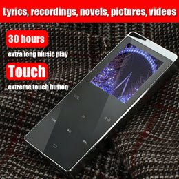 $enCountryForm.capitalKeyWord Australia - Luxury 4GB Metal MP4 Player Bluetooth Player Portable Slim MP3 MP4 Media 2.4 Inch Touch Key FM Radio TF Card Supported Music Player Gift