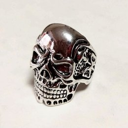 $enCountryForm.capitalKeyWord Australia - Free Shipping Mixed 100pcs Destroyer PUNK gothic Gothic Lolita Skull Style ring Men Band Jewelry Bikers (Arts and Crafts)