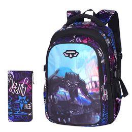 $enCountryForm.capitalKeyWord NZ - black panther printing cute anime backpack travel school bags for teenagers boys satchel bag men kids bags boy children