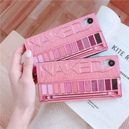 X Box Bag NZ - Fashion Camouflage Makeup Eye shadow box funny soft cover phone case for iPhone 6 6s 6splus 7 8 plus X XR XS MAX with opp bag