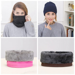 winter fleece face mask NZ - Outdoor Winter Hat Scarf Neck Warmer Unisex Thermal Fleece Neck Gaiter Tube Windproof Face Mask Ski Cap ZZA1320 50pcs