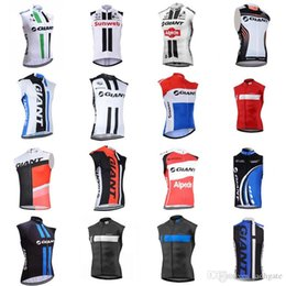 $enCountryForm.capitalKeyWord Australia - GIANT team Cycling Sleeveless jersey Vest 2018 MEN'S racing Bicycle shirts Cycling Vest Sports wear D0806