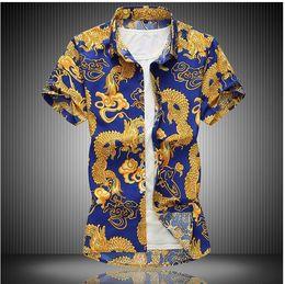 Big Collared Shirts Australia - New Arrival Brand Men's Summer Business Shirt Short Sleeves Turn-down Collar Casual Shirt Shirt Men Shirts Big Size 5