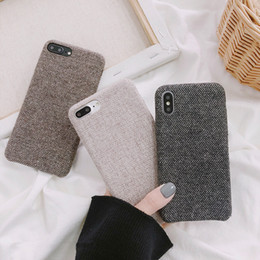 cloth iphone Australia - Cloth Grid Phone Case For Apple iPhone 11 X XS Max XR 8 7 Plus Lattice Cute Fashion Soft Back Cover Cases