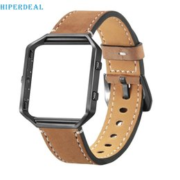 Wrist Watch Designs Australia - HIPERDEAL Luxury Leather Watch Band Wrist strap+Metal Frame For Fitbit Blaze Smart Watch classical design #j