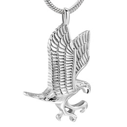 cat cremation jewelry UK - IJD10077 Pet Cremation Jewelry for Dog Cat Ashes Stainless Steel Eagle Memorial Urn Necklace Men Keepsake Pendant