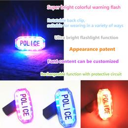 Genel Şarj Edilebilir Renkli Omuz Işık Trafik Uyarı Sinyal Lambası Polis Yangın Güvenliği için El Feneri ile indirimde