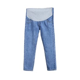 China Maternity Jeans For Pregnant Women Pregnancy Denim Casual Pants Adjustable Big Size Maternity Clothes Leisure Nursing Trousers supplier pregnant jeans suppliers