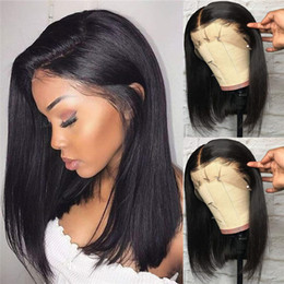 straight human hair wigs side part NZ - 13x6 Deep Part Lace Front Human Hair Wig Silk Straight Side Part Brazilian Remy Hair Pre Plucked Glueless Wig with Baby Hair