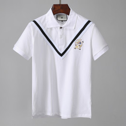 da037711d42ccc New Designer Tshirt Men Polos 2019 Poloshirt Short Sleeve Blouse Summer  Cotton Solid Casual Office Business England Style Italy Design Top