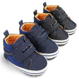 $enCountryForm.capitalKeyWord Australia - 1 Pair Baby Shoes Newborn Infant Baby Boys Denim Soft Sole Anti-slip Shoes Baby First Walkers toddler Winter shoes D11