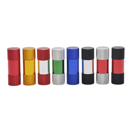 Chinese  Newest Colorful Aluminum Alloy Bottle Opener Pollen Press Cream Whipper Cylindrical Shape Innovative Design Portable Herb Smoking Tool manufacturers