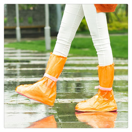 $enCountryForm.capitalKeyWord Australia - Portable Waterproof Anti-Slip Reusable Rain Shoe Covers Overshoes Rain Boots Cover Rain Gear Raincoats Accessories, Small