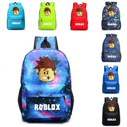 Brown laptop Bags online shopping - Fashion Roblox Backpack Travel Outdoor School Bag Handbag Travel bag Cool Boy Bookbag Laptop Printing For Boys Kids Students Teens Fans M22Y
