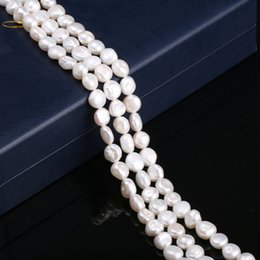 $enCountryForm.capitalKeyWord Australia - JNMM 100% Natural Freeform Freshwater Cultured Pearls Beads DIY Beads for Jewelry Making DIY Strand 14 Inches Size 9mm-10mm