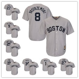 67c113630 Boston 8 Carl Yastzremski 9 Ted Williams Red Sox Majestic Cool Base  Cooperstown Collection Player baseball Jersey