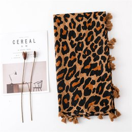 leopard print cotton scarves NZ - Season Scarf Super Cotton Scarf Shawl Dual Purpose Classic Coffee Color Leopard Print Long Fund Scarf Ma'amNew Hot Fashion