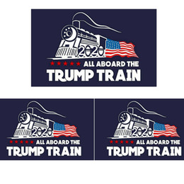 Venta al por mayor de Moda 2020 Trump etiqueta engomada del coche Donald Iocomotive Pegatinas Tren Etiqueta de la Ventana Home Living Room Decor Pegatinas de Pared TTA809