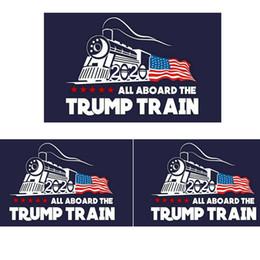 Vente en gros Mode 2020 Trump autocollant de voiture Donald Iocomotive autocollants train fenêtre autocollant accueil salon décoration stickers muraux TTA809