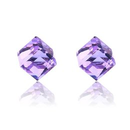$enCountryForm.capitalKeyWord UK - Fashion Water Cube Health Magnet Color Crystal Earring Non Perforated Earrings For Women Strong Magnetic Iron Ear Jewelry 9 Colors