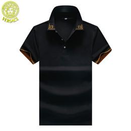 $enCountryForm.capitalKeyWord Australia - Medusa polo shirt mens V ersace classic tshirt designer trend clothing brand fashion tshirts M-XXXL high quality men cosy polos t-shirts
