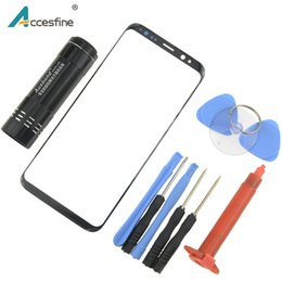 Uv lens cover online shopping - NEW For Samsung Galaxy S8 S9 Plus Note8 Front Outer Glass Lens Touch Panel Cover Replacement with Repair Tools UV Glue light