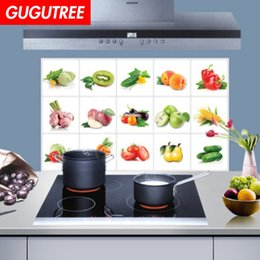 3d kitchens design NZ - Decorate home 3D kitchen oil proof cartoon art wall sticker decoration Decals mural painting Removable Decor Wallpaper G-2563