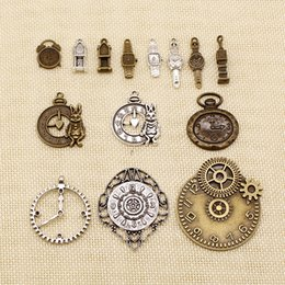diy watches NZ - 50 Pieces Diy Accessories For Jewelry Clock Alarm Bell Tower Clock Watch HJ114