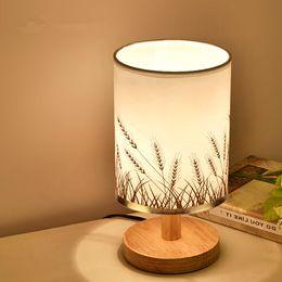 Student Study lamp online shopping - Modern Wood Table Lamps E27 AC110V V EU US Plug Student Table Lamp Bedroom Bedside Lamp Indoor Living Room Bedroom Lamp