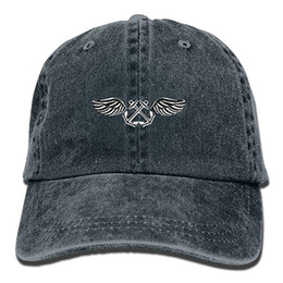 dome badge NZ - 2019 New Designer Baseball Caps Mens Cotton Washed Twill Baseball Cap US Navy Aviation Boatswain's Mate Rating Badge Hat
