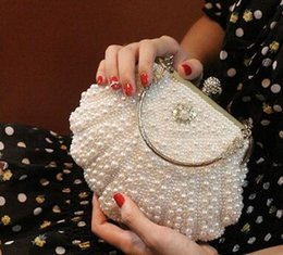 Brides Hand Bags Australia - New Fashion women's Shell Pearl Drill Dinner Bride Pack Dress Banquet Hand Straddle Bag