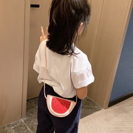 Discount cell phone babies - LKEEP Children's Bag 2019 Cute Watermelon Crossbody Messenger Bag Pu Leather Fruits Shoulder for Baby Girls Kids Mi
