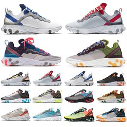 games for soccer NZ - 2019 New React Element 87 Volt 55 Game Royal Taped Seams Running Shoes For Women men 55s Blue Chill Trainer 87s Sail Sneakers
