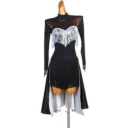 Wholesale latin dress competition dresses junior kids women samba rumba tango latin dance dress black sequin lq177