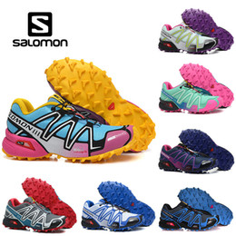 fish tennis shoes 2019 - Salomon Speed Cross 3 CS Mens Outdoor Hiking Shoes SpeedCross Waterproof Women Athletics Running Sports Sneakers 36-46 d