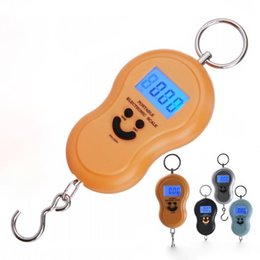 $enCountryForm.capitalKeyWord Australia - 4 Colors Portable Smile hand held Gourd Shape Scale Precision Hook Electronic Kitchen Scales Digital electronic Scale Weighing 50Kg 10g