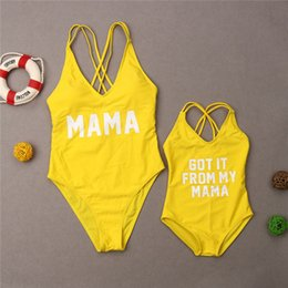 $enCountryForm.capitalKeyWord NZ - 2019 Family Matching Swimwear Mother Daughter Swimsuit Women Monokini Kid Baby Girl Bathing Suit 1pc Beachwear Swimming Costume