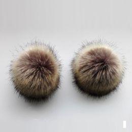 Skull Cap Ball Australia - 20pcs 50pcs lot Wholesale Faux Fur Pompoms For Winter Knitted Skullies Beanies Caps Hats 13cm Imitation Fur Ball Accessories