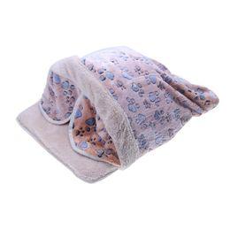$enCountryForm.capitalKeyWord Australia - Pet Warming House Foldable Soft Cotton Autumn Winter Warm Sleeping Dog Cat Bed Cave Nest Kennel