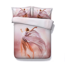 Queen Pink Floral Comforters NZ - Romantic pink bedding 3 Pieces Duvet Cover With 2 Pillow Shams Bed Cover Women Girls Quilt Comforter Cover Galaxy Bedspread Bedclothes