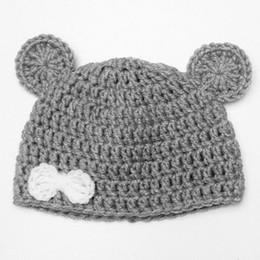 8180122fed549d Lovely Baby Grey Bear Hat,Handmade Knit Crochet Baby Girl Animal Hat,Infant  Beanie Cap,Newborn Toddler Photo Prop Shower Gift