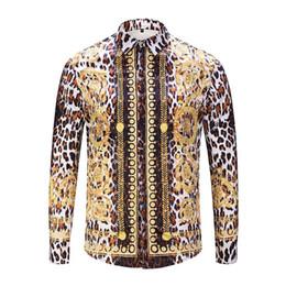 Double Shirt Designs Australia - Free shipping Italian new men\'s shirt design 2018 autumn and winter 3D Harajuku men\'s Medusa casual shirt fashion Plaid long-sleeved men