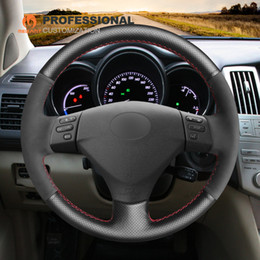 $enCountryForm.capitalKeyWord Australia - MEWANT Black Suede Genuine Leather Car Steering Wheel Cover for Lexus RX330 RX400h RX400 2004-2007 Toyota Corolla Verso 2006 Camry 2004-2006